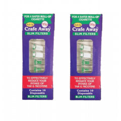 2 x packs of Crafe Away Roll up filters
