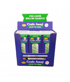 12 x packs of Crafe Away Roll Up filters